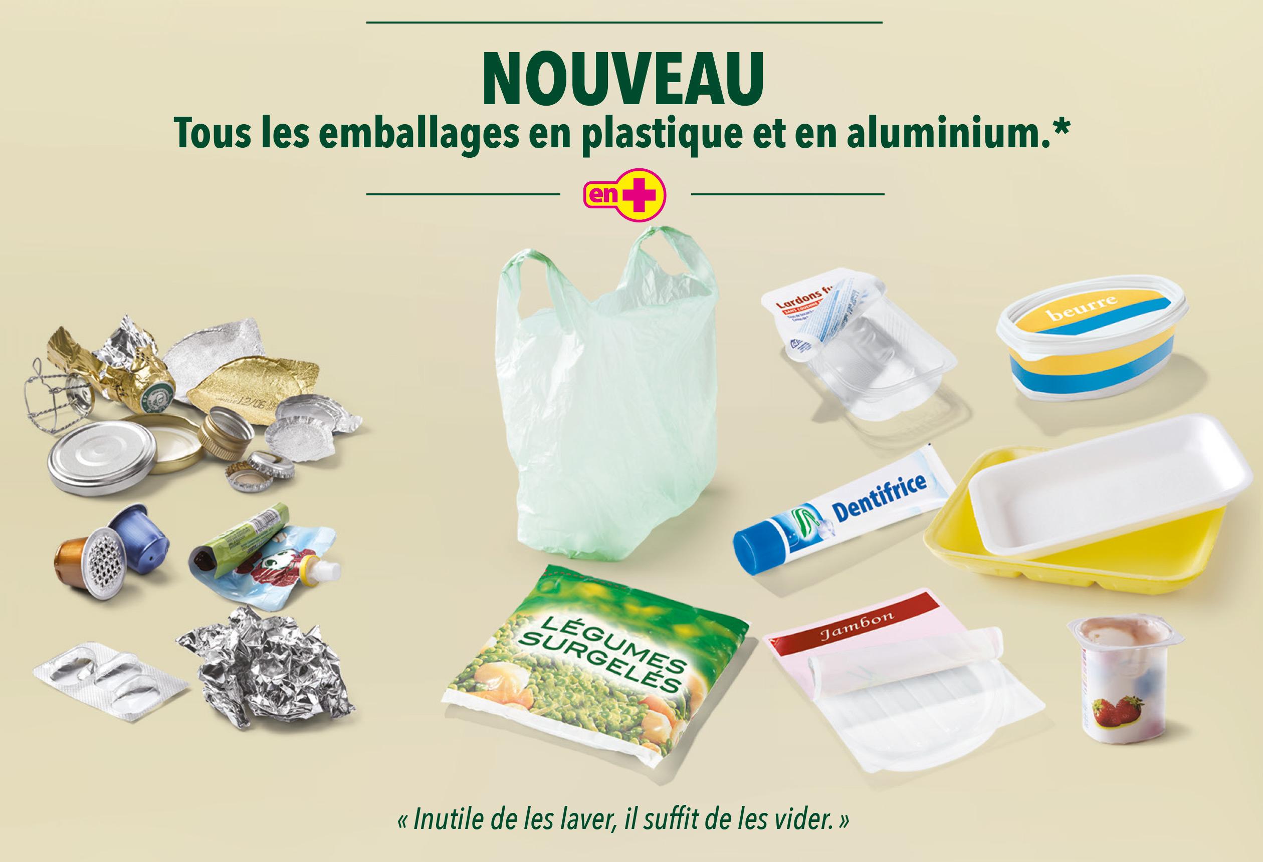 Emaballages plastique et aluminium